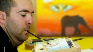 Peintre avec la bouche
